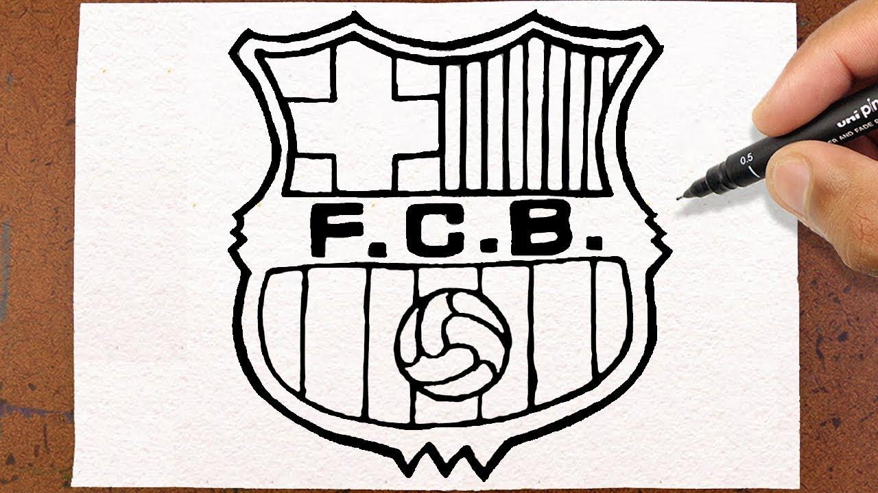 Como Desenhar Escudo Fc Barcelona Futebol Youtube