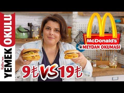 9₺ vs 19₺ McDonald's Meydan Okuması ( Challenge ) | Evde Daha Ucuz ve Hızlı BigMac Tarifi