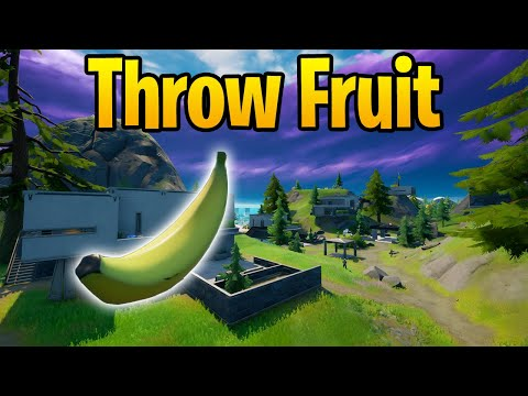 Throw Fruit at Hunter's Haven - Fortnite Challenge Guide