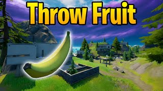 Throw Fruit at Hunter's Haטen - Fortnite Challenge Guide