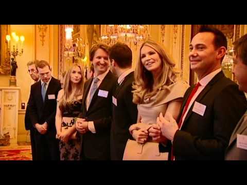 Queen Elizabeth II meets Australian celebrities at Buckingham Palace