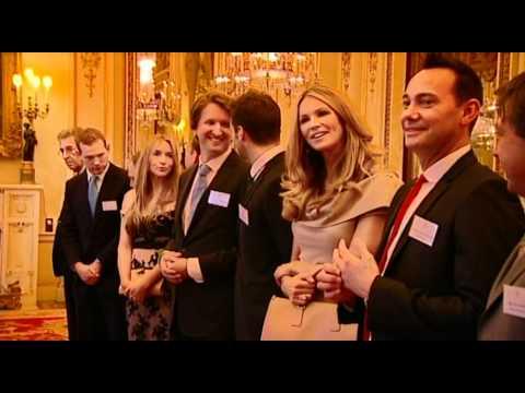 Queen Elizabeth II meets Australian celebrities at Buckingham Palace
