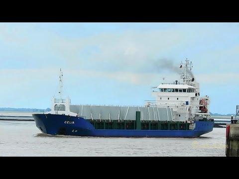 cargo seaship CELIA V2DD5 IMO 9344394 inbound Emden with windcraft parts merchant vessel