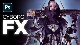 Battle Angel Cyborg Effect With Photoshop