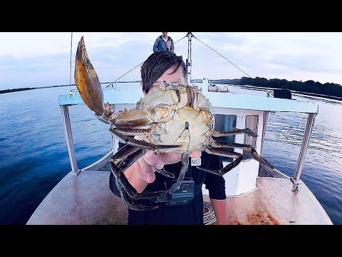 Barehanded Mud Crab Catch And Cook Feast - On A Salvaged Ex-Trawler