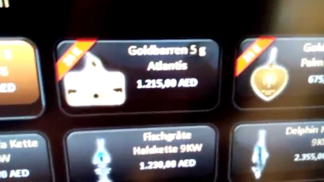 gold to go automat hotel atlantis dubai the palm youtube. Black Bedroom Furniture Sets. Home Design Ideas