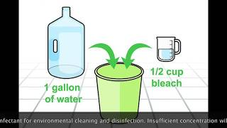 How to use Sodium Hypochlorite (Bleach) for disinfecting (2nd lesson)