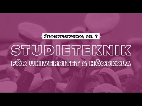 STUDIETEKNIK FÖR UNIVERSITET