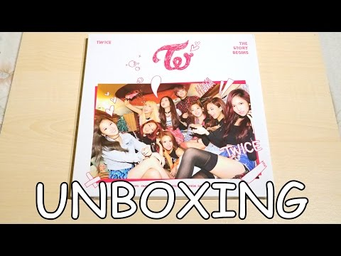 Unboxing - TWICE (트와이스) THE STORY BEGINS - 1st Mini Album - YouTube
