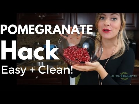 How to Get the Seeds out of a Pomegranate the Easy/Clean Way