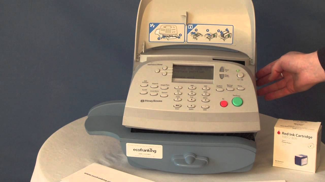 How To Change A Pitney Bowes Dm100i Franking Machine Ink Cartridge Youtube