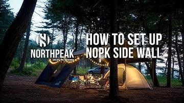 [노스피크] 타프 사이드월 설치하기 / [nopk] How to set up a NOPK SIDE WALL