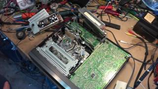 Соні СЛВ Р5 з VHS відеомагнітофон харчування ремонт