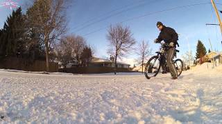 Electric bike drifting and burnouts in Canada - many smiles per hour!