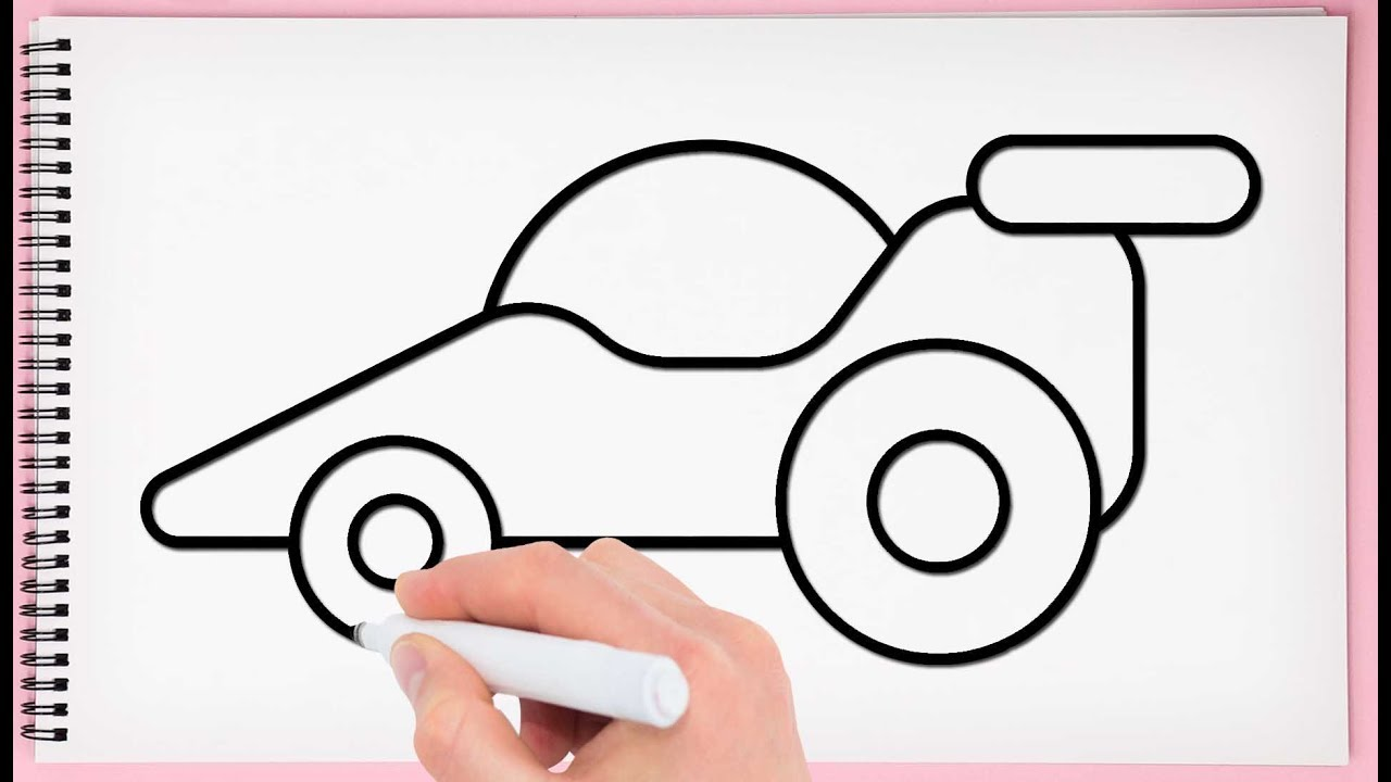 How to Draw a Toy Car Step by Step for Kids Learn Drawing ...