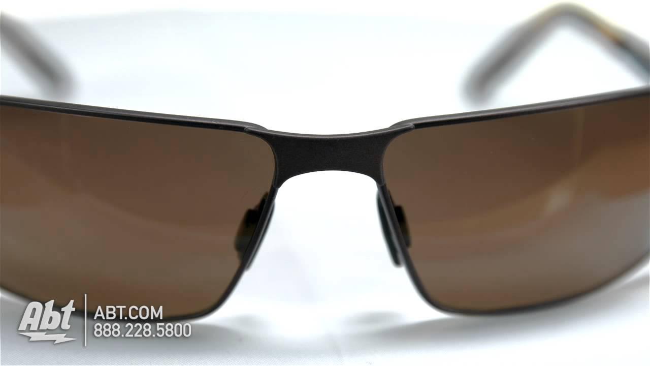 21b781a2db0c Maui Jim Castaway HCL Bronze Mens Sunglasses H18701M Overview - YouTube