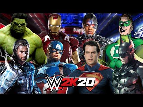 MARVEL AVENGERS Vs DC JUSTICE LEAGUE   WWE 2K20