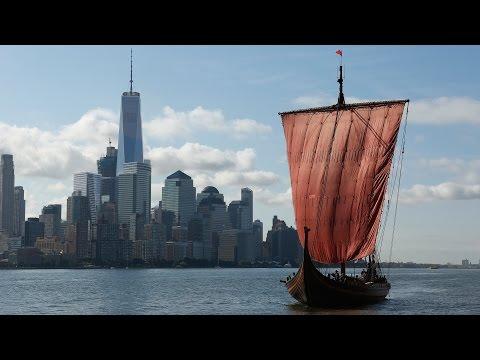 Moderna vikingar seglar till new york