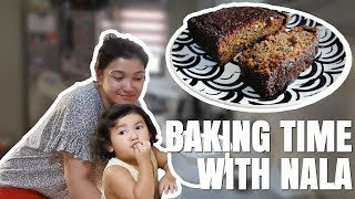 Made BANANA BREAD (First time baking with Nala) | Camille Prats