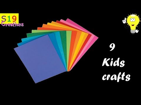 9 Easy crafts for kids with paper | simple crafts for kids | diy crafts