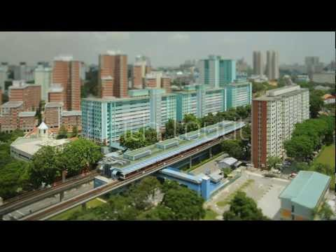 Tilt Shift - Singapore Queenstown MRT Wide - Stock Footage