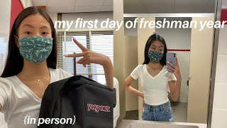 FIRST DAY OF HIGHSCHOOL GRWM & VLOG *in person*