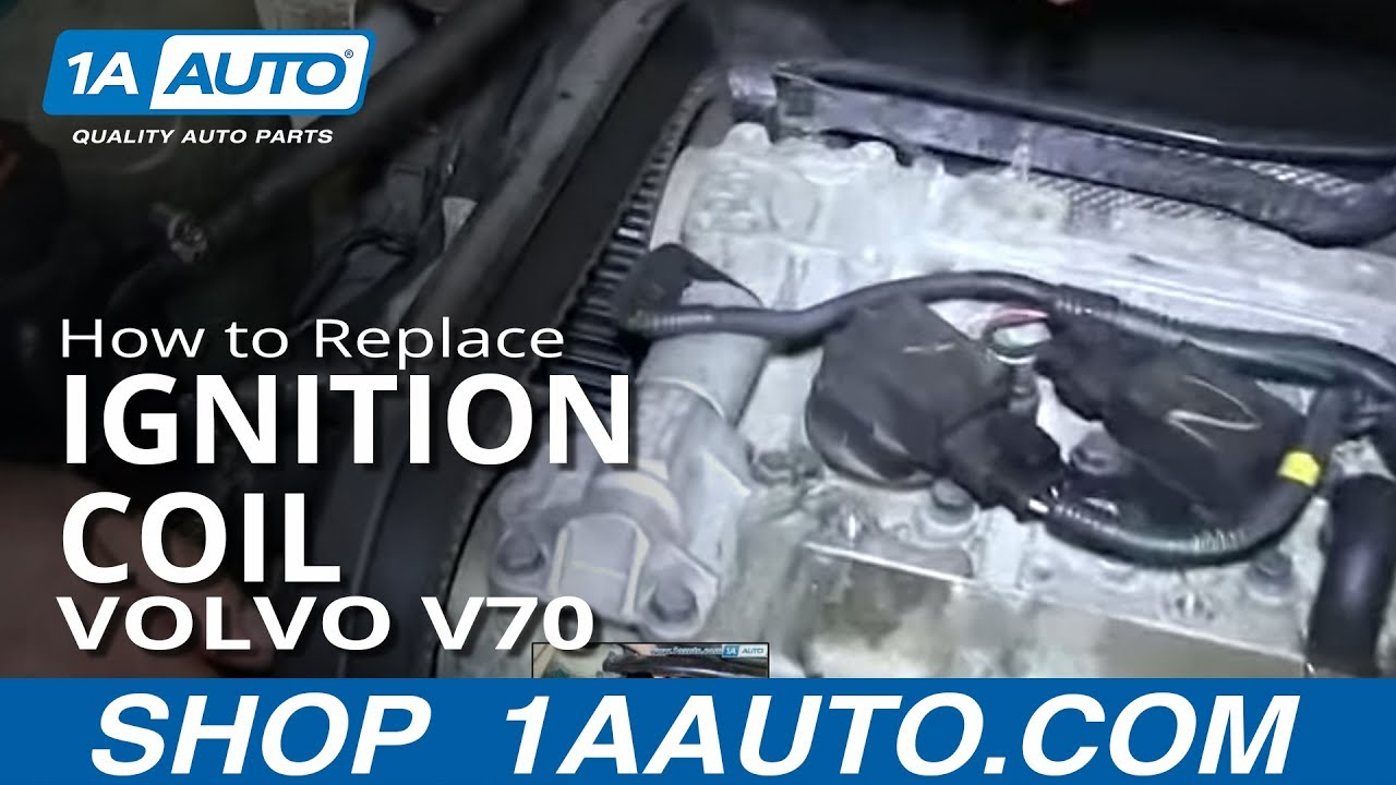 How To Install Replace Engine Ignition Coil 1999-2007 Volvo V70 - YouTube