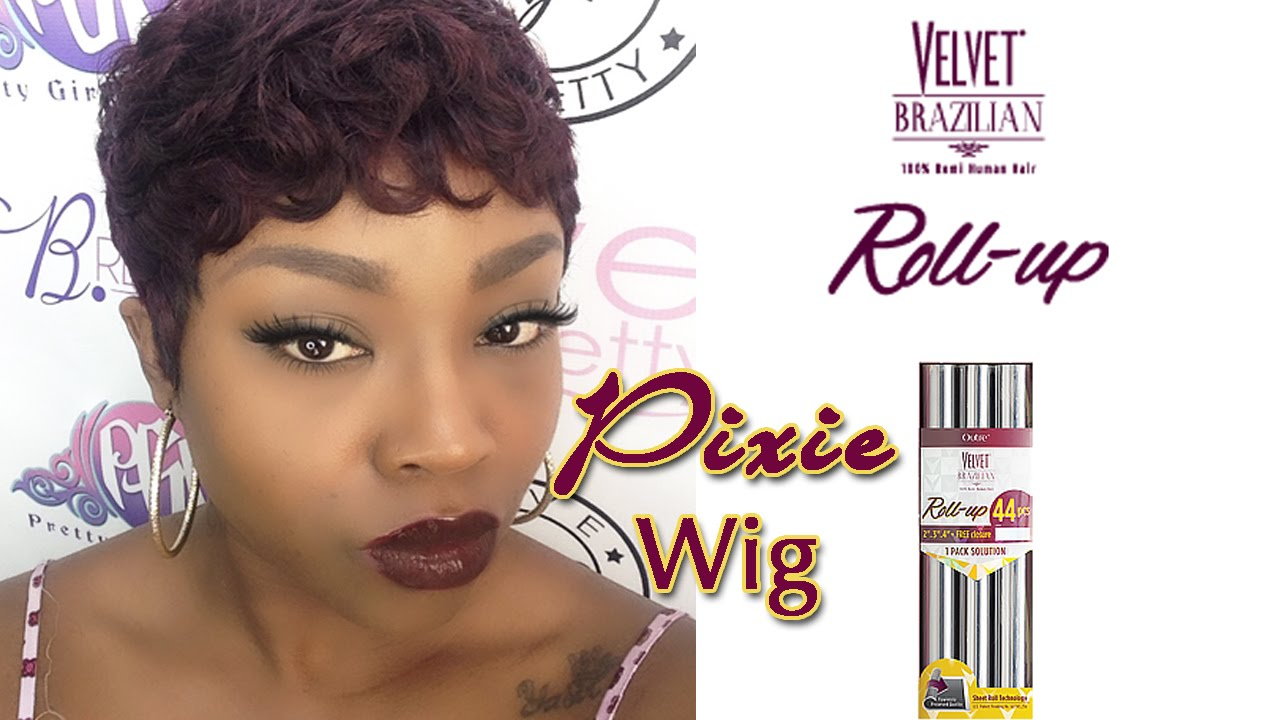 how to make a pixie wig| outre remy roll up 44 piece
