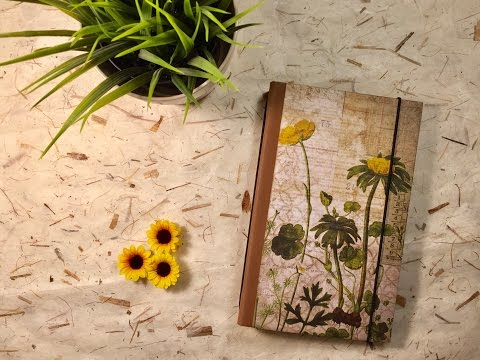 Tim Holtz Wallflower Traveler's Notebook TUTORIAL