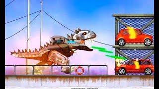 Tyrann Dinosaurier Rüstung tragen, die mit Maschinengewehr| Tyrann Dinosaurier gameplay| Cartoon AC