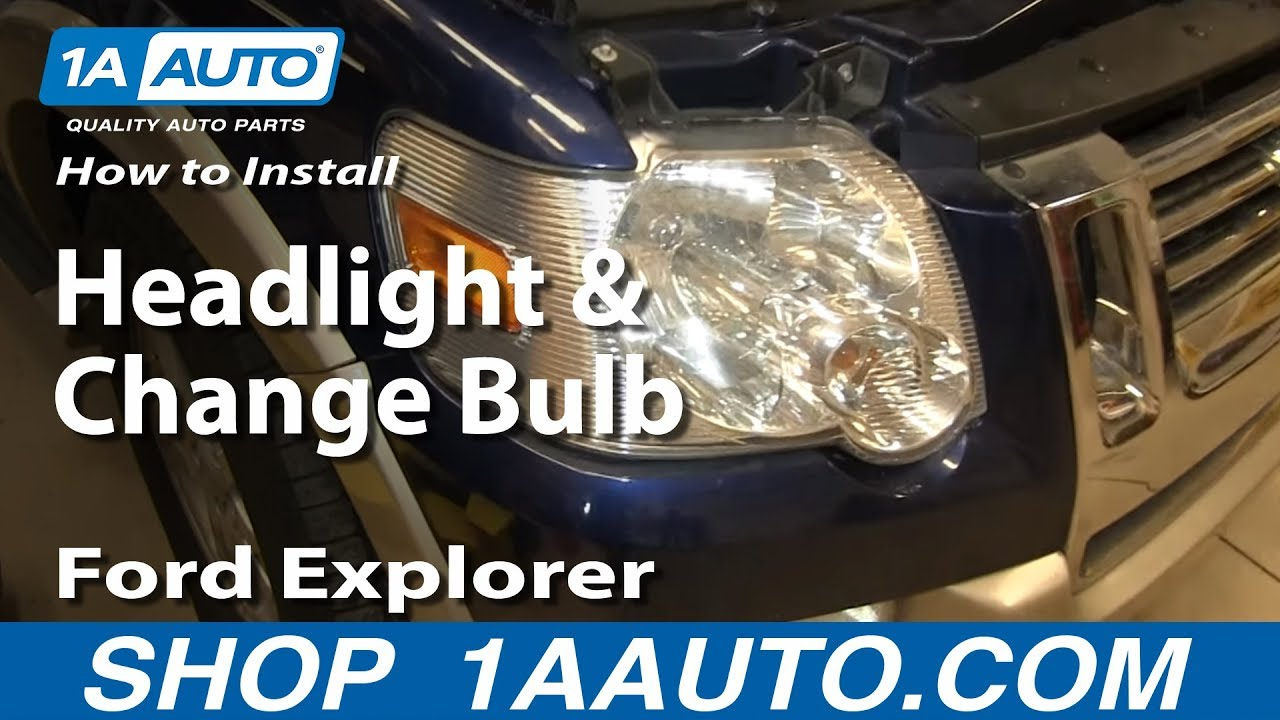 replace headlight  bulbs   ford explorer