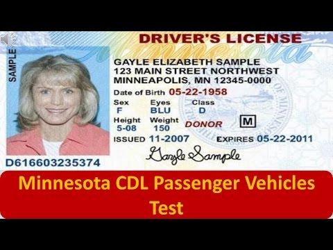 Minnesota CDL Passenger Vehicles Test