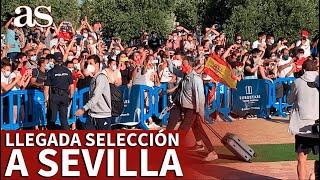EURO 2020 | SELECCIÓN | ESPAÑA llega a SEVILLA: LUIS ENRIQUE, puño en alto y MORATA aplaudido | AS