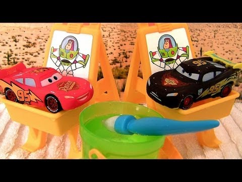 Cars Color Changers Slide N Surprise Playground Set Youtube
