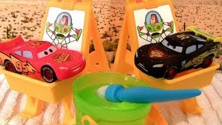 Cars Color Changers Slide N Surprise Playground Playset Water Toys Disney Pixar CARS2 Blucollection