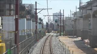 東武スカイツリーライン竹ノ塚駅付近高架化工事区間前面展望 2019.7