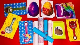 Паперові сюрпризи/Скрепыши/відео для дітей, розпакування,дракон,поні,єдиноріг,котик,леді баг,яйце.
