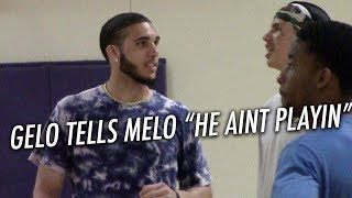 LiAngelo Ball GETS THE BEST of LaMelo Ball First Game VERSUS EACH OTHER