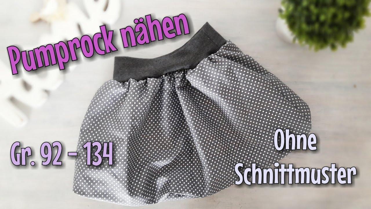 Pumprock Nähanleitung - OHNE Schnittmuster - Für Anfänger ...