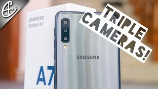Galaxy A7 2018 (Triple Cameras | Side Fingerprint | Infinity Display) - Unboxing & Hands On Review