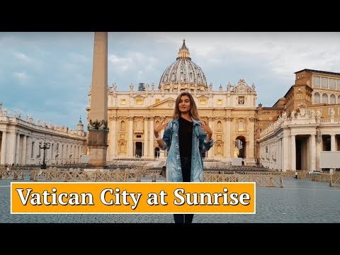 😍How to Visit Vatican City at Sunrise: St Peter's Basilica, Square and Dome 📿