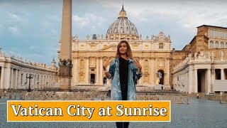 How to Visit Vatican City at Sunrise 😍 St Peter's Basilica, Square and Dome 📿