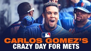 Carlos Gomez has crazy day at Citi Field for Mets