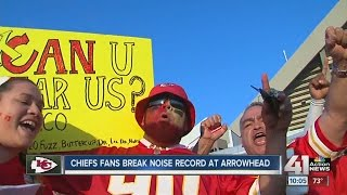 Chiefs fans break noise record