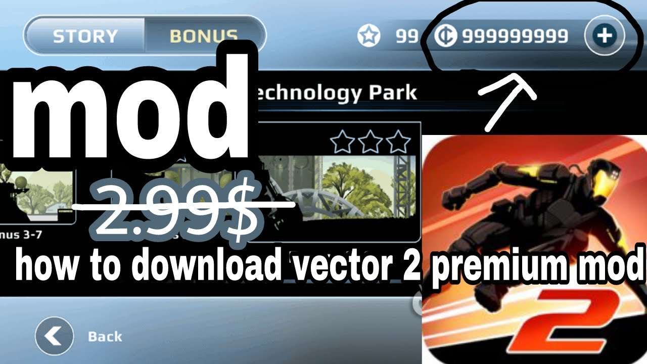 របៀបdownload vector 2 premium mod apk not 2 99$ no root is free for android