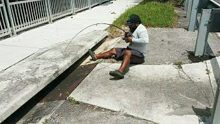 SEWER Fishing for Big Fish!