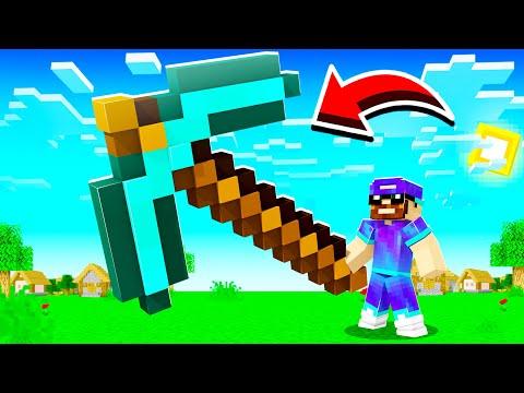 Minecraft MAIS les items sont GÉANTS ! (hyper cheat !)