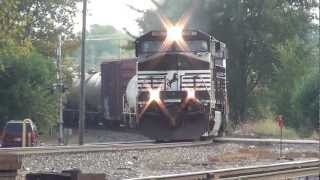 Norfolk Southern 3 locomotive manifest in Muncie Indiana