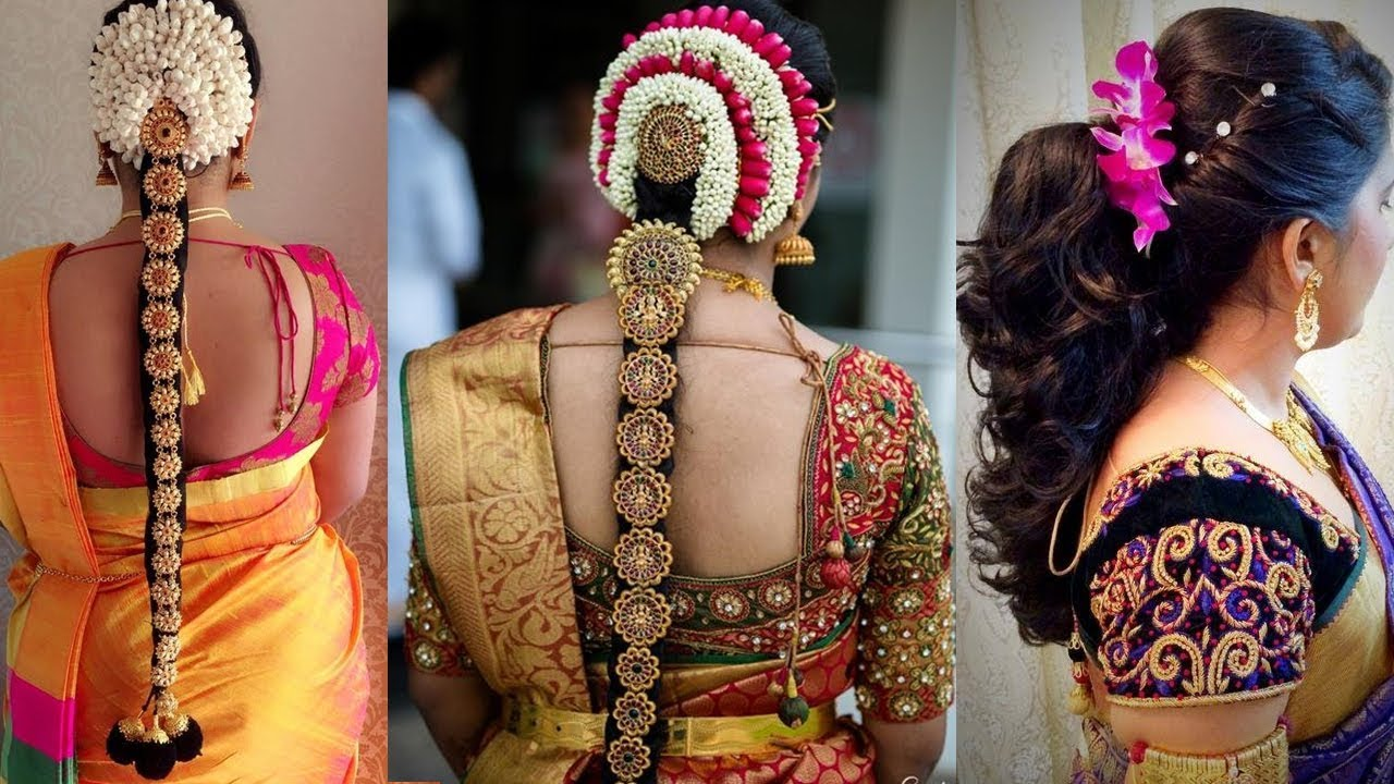 indian bridal hairstyles step by step perfect for wedding   top 3 amazing  south indian hairstyles  