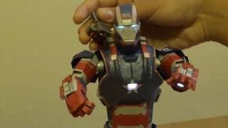 Posable Papercraft Iron Patriot (1/6 scale) with LEDs
